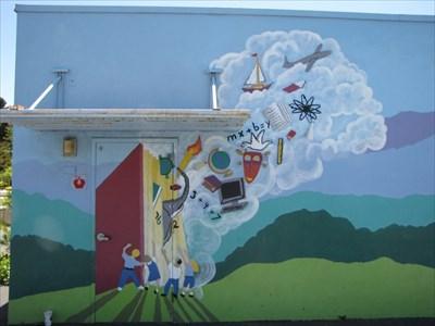 Library Door, Almaden Country School, San Jose, California