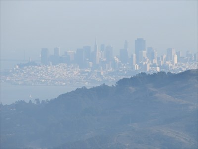 City of SF, Bay Bridge, Coit Tower, Trans America, Marin County, CA