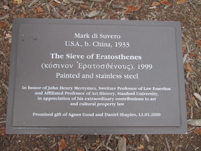 The Sieve of Eratosthenes Sign