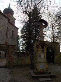 Churchyard Cross at Sv. Jiljí (St Giles) Church, Železnice - Czech Republic