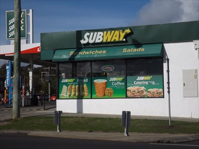 A view of the local Subway outlet at the Liberty service station.