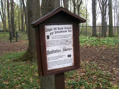Gospel Hill Burial Ground Sign