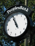 Image for Peoples Bank Clock.  Amherst, MA