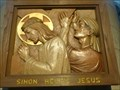Image for RC. Cathedral - Relief - Simon Helps Jesus - Norwich, Norfolk, Great Britain.