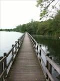 Image for Floating bridge, Lac du Gravière Brock, Hermalle sous Argenteau, Belgium
