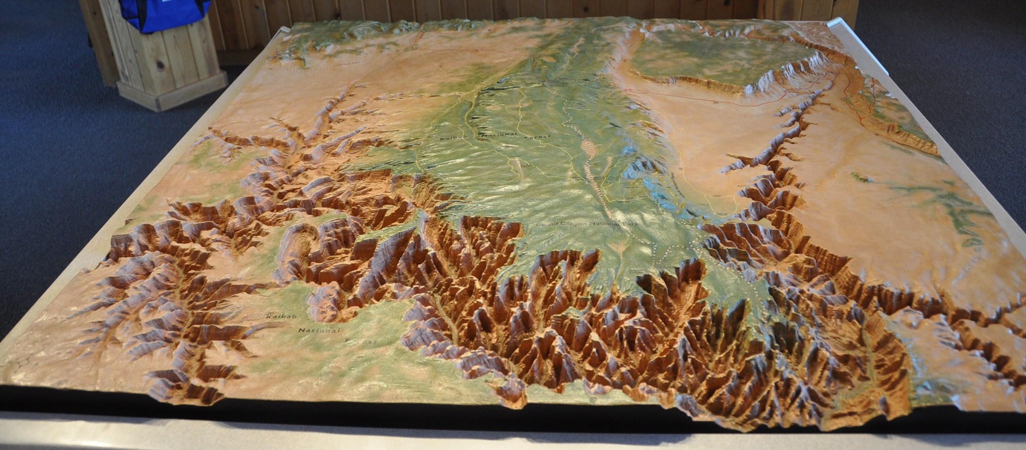 3d Map Of Arizona.Kaibab National Forest Grand Canyon 3 D Map Jacob Lake Arizona Image