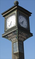 Image for First National Bank Clock - Granger, TX