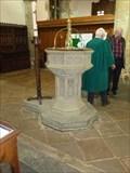 Image for Font, Holy Trinity Church, Stratford-upon-Avon, Warwickshire, England