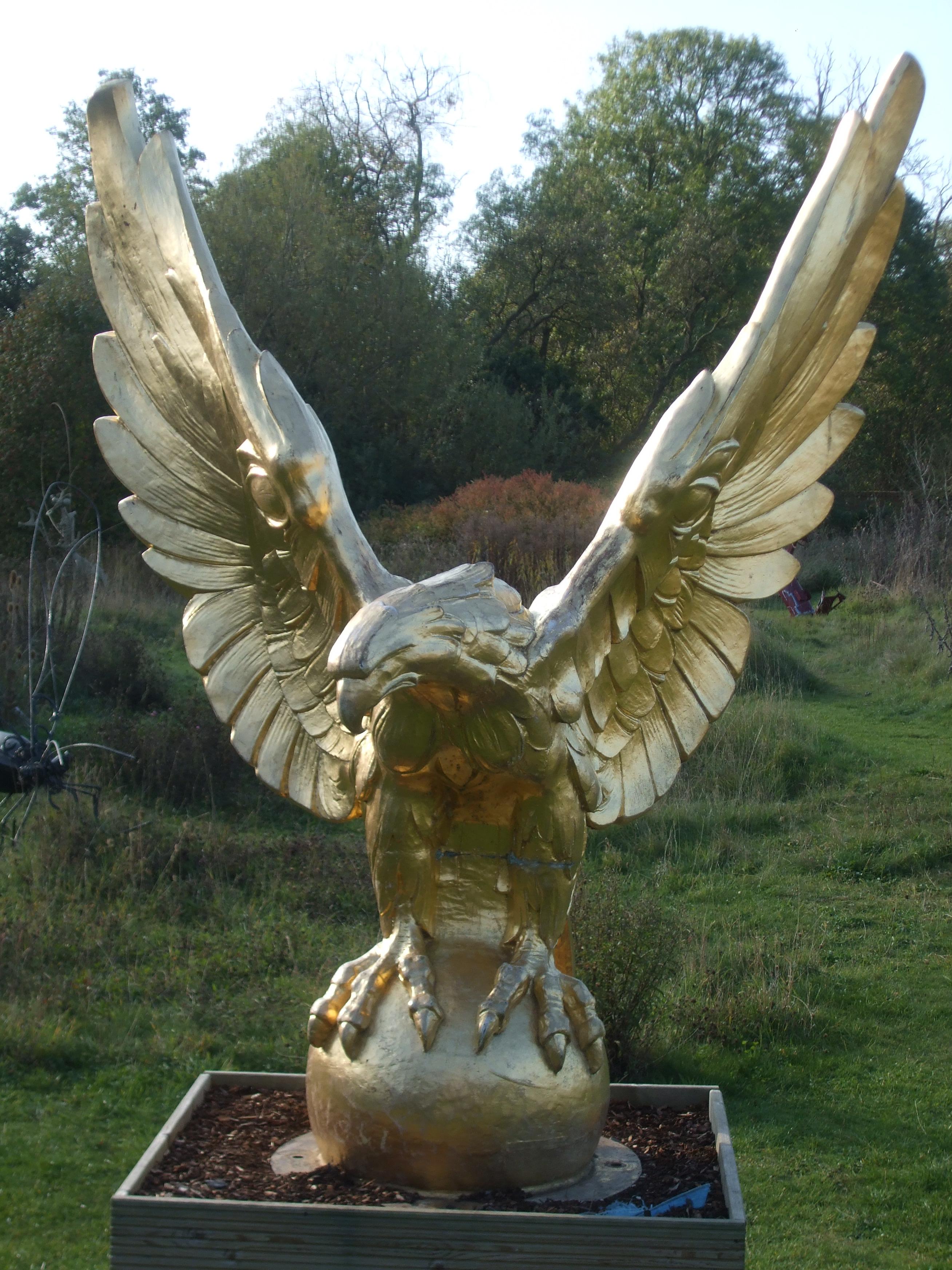 Simple Home Decorating Ideas Gold Eagle Statue