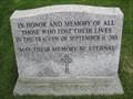 Image for 9/11 memorial plaque-  Holladay, Utah