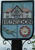 Image for Village Sign, Hunsdon, Herts, UK