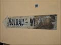 "Image for Ghost sign - arrow ""Moldau – Vltava"" / šipka s nápisem ""Moldau – Vltava"", Praha - Malá Strana, Czech republic"
