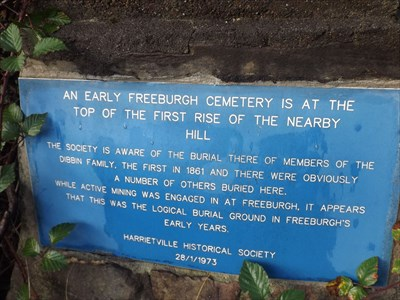 The text of the plaque on a monument for the forgotten cemetery. 0803, Tuesday, 17 May, 2016
