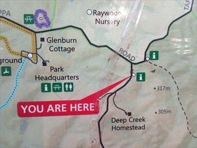 Close up of where you are in the Park.1542, Tuesday, 29 May, 2018