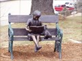 Image for Little Girl on Bench Reading-Ashe County Public Library