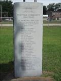 Image for Wortham Community War Dead - Wortham,TX