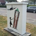 Image for Tower pushing girl - Aalsmeer, Netherlands