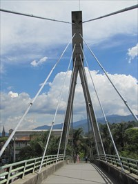 Cable-Stay Tower from Beneath, Medellin, Colombia