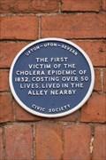 Image for Cholera Memorial, Dunns Lane, Upton-on-Severn, Worcestershire.