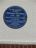 Image for Michael Faraday blue plaque - Hastings, England