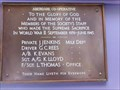 Image for Aberdare Library - WW2  Memorial - Cynon Valley, Wales.