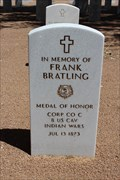 Image for Frank Bratling - Fort Bliss National Cemetery - El Paso, TX