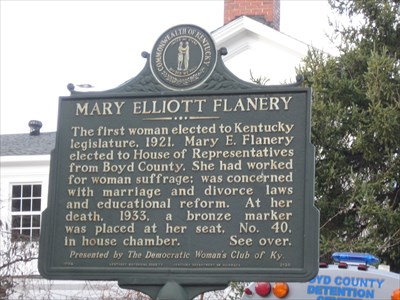 Historical Marker about Mary E. Flanery at Elliott Hall, 2716 Panola St., Catlettsburg, KY