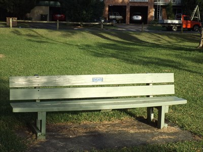 The bench in Elouera Park, Forster Keys, NSW