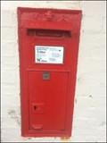 Image for Wall Mounted Post Box, Saxmundham Railway Station, Saxmundham, Suffolk, UK