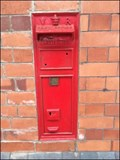 Image for Wall mounted Post Box, Wrexham General Railway Station, Wrexham, Wales. UK