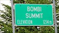 Image for Bombi Pass Summit Elevation Sign - Castlegar, BC