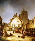 """Image for """"The Market Place, St Albans, Hertfordshire"""" by George Jones RA – Market Place, St Albans, Herts, UK"""