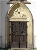 Image for Dvere kostela sv. Vita / Door of St. Vittus Church, Sobeslav, CZ