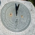Image for Sundial in city's smallest park - Clinton, IA