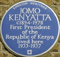Image for Jomo Kenyatta - Cambridge Street, London, UK