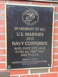 Image for US Marine and Navy Corpsmen Plaque - Buffalo, NY