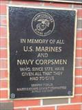 Image for US Marine and Navy Corpsmen Plaque - Buffalo, NY
