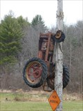 Image for Tractor Climbing a Tree - Colebrook, CT