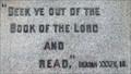 Image for Bible: Isaiah 34:16 - Penticton Cenotaph - Penticton, British Columbia Canada