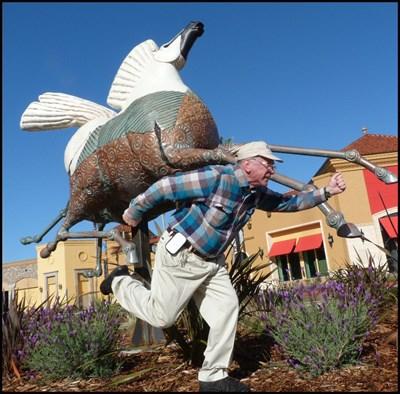Horse sculpture in Palladio mall, Folsom, CA