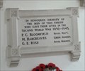 Image for Memorial Plaque - All Saints - Drinkstone, Suffolk