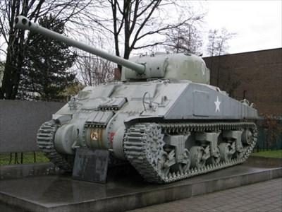 M4A4 Sherman Firefly, Tielt, Belgium - Military Ground