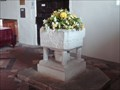Image for Stone Font in St Mary's Church, Lower Higham, Kent. UK