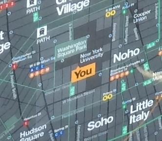 W 3rd St La Guardia Pl Map Bottom New York Ny You Are