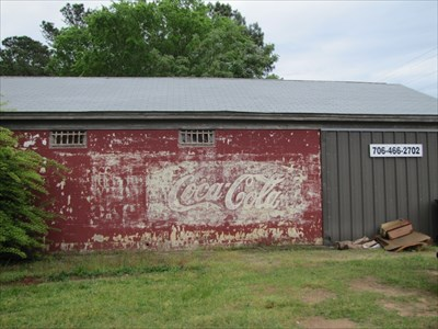 Coca-Cola Ghost Sign Setting on Side of Building, Appling, Georgia