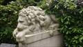 Image for Zwei steinerne Löwen auf dem Ohlsdorfer Friedhof - Hamburg, Germany
