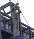 Image for Ship Repair Worker On Ship's Prow - Liverpool, UK