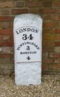 Image for Milestone - A10 / Ermine Street, Buckland, Hertfordshire, UK.