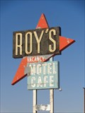 Image for Remote town of Amboy & Roy's Diner - Satellite Oddity - Amboy, CA.
