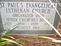 Image for 1961 - St. Paul's Evangelical Lutheran Church - Gilbert, SC